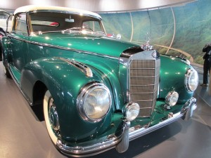 a photo of a classic green German car