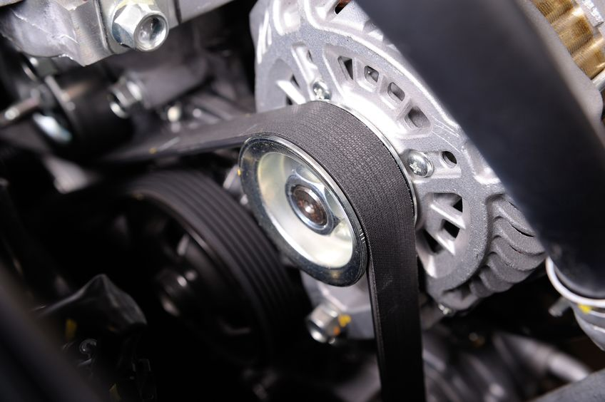 A Closeup Picture of a Car Timing Belt.